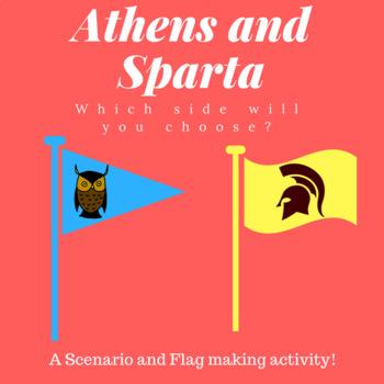 Sparta Vs. Athens Scenario and Flag assignment Activity