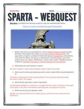 Sparta - Webquest with Key