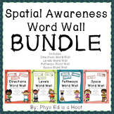 Physical education word walls resources lesson plans teachers spatial awareness unit word wall bundle publicscrutiny Image collections