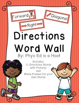Spatial Awareness Unit Word Wall - BUNDLE