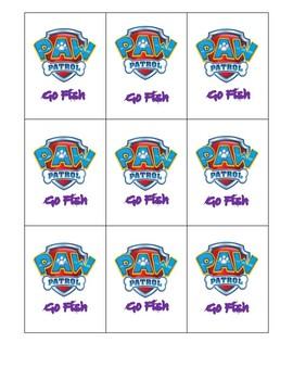 Spatial Concept Go Fish Cards- Paw Patrol