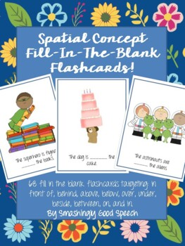 Spatial Concept & Preposition Fill - In - The - Blank Flas