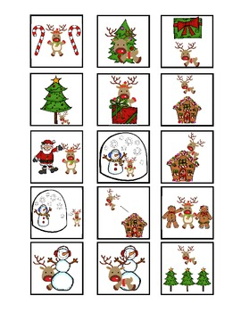 Christmas Spatial Concepts Cariboo Game