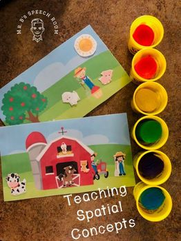 Spatial Concepts On The Farm: Freebie