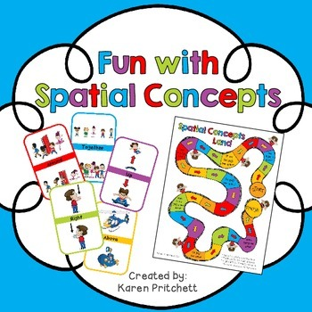 Prepositions / Spatial Concepts / Positional Words game and flash cards