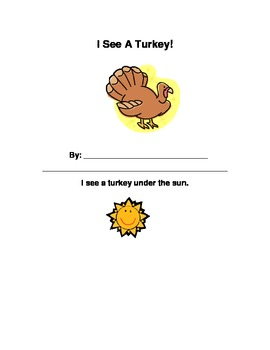 Spatial Concepts Thanksgiving Story Activity