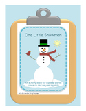 Spatial Concepts and Sequencing Activity Book One Little Snowman