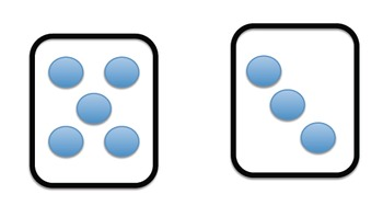 Spatial Patterns for mental addition (die- Common Core)