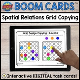 Spatial Relations Design Copying BOOM CARDS™ for Teletherapy