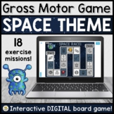 Gross Motor DIGITAL Board Game for Teletherapy (SPACE THEME)