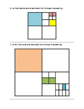 Spatial Sense (Fractions with Shapes)