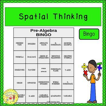 Spatial Thinking Pre-Algebra BINGO