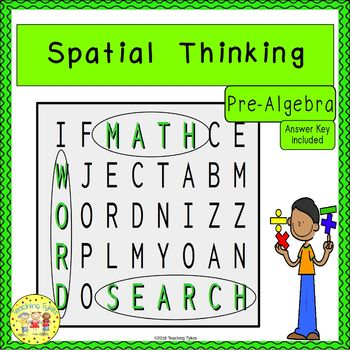 Spatial Thinking Word Search