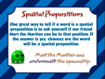 Spatial Words Mini Lesson PowerPoint and Activity