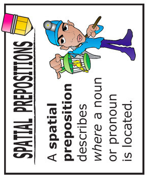 Preposition Activities + COMPLETE Lesson and TWO FULL COLOR Posters (L.3.6)