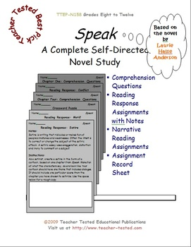Speak: A Complete Novel Study
