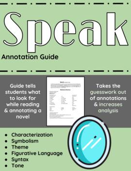 Speak Annotation Guide