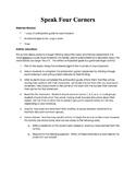 Speak Anticipation Guide/Four Corners Activity
