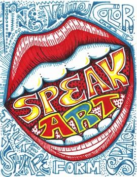 Speak Art Poster