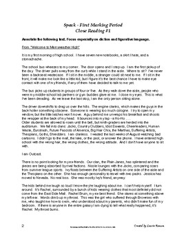 Speak - Close Reading; Excerpts; Annotation; Secondary ELA