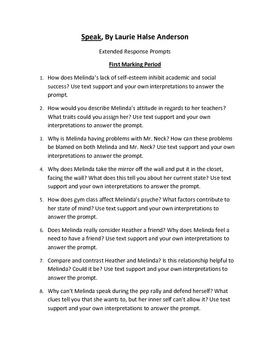 Speak Extended Response Prompts