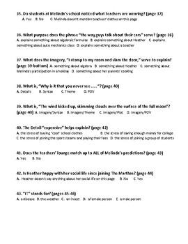 Speak-First Marking Period Quiz