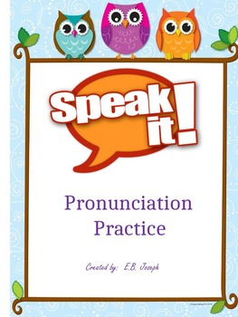 Speak It: Pronunciation Chart