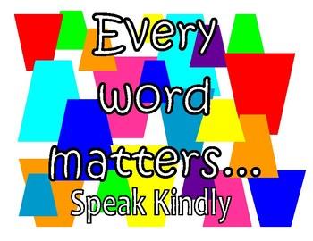 Speak Kindly Printable Quote