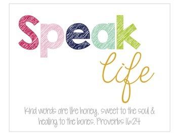 Speak Life {Free Digital Download}