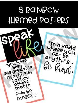 Speak Life Posters