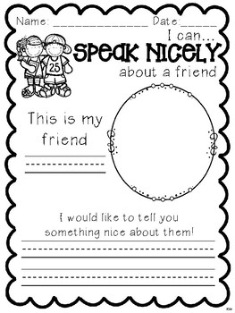 Speak Nicely About a Friend