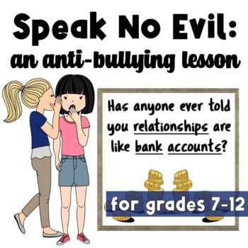 An Anti-Bullying Lesson: Kindness, Community, Respect, Conflict Intervention
