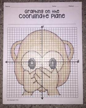 Speak- No- Evil EMOJI (Graphing on the Coordinate Plane)