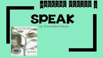 Speak Novel Marking Period 3- Teacher Presentation or Student workbook