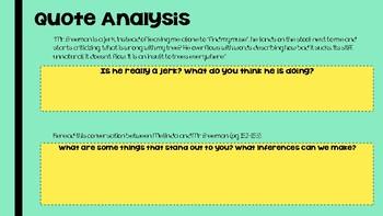 Speak Novel Marking Period 4- Teacher Presentation or Student workbook