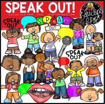 Speak Out! Clip Art Set {Educlips Clipart}