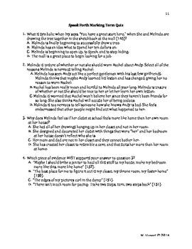 Speak PARCC-style Quizzes for each Marking Period