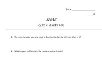 Speak Quizzes