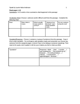 Speak Small Group Packet