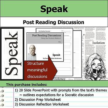 Speak - Socratic Method - Post Reading Discussions