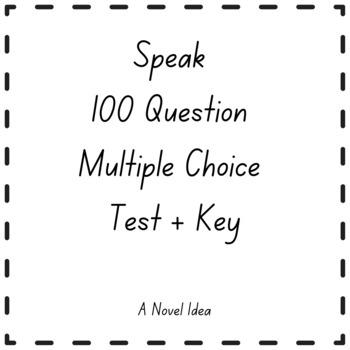 Speak Test (100 Questions Multiple Choice)