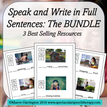 Speak and Write in Full Sentences! THE BUNDLE (Distance Learning made easy)