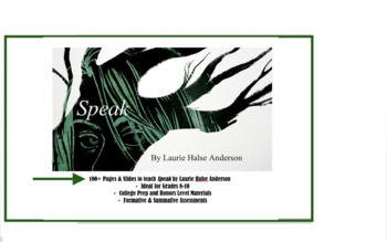 Speak by Laurie Halse Anderson - BUNDLE