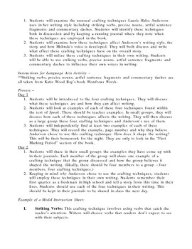 Speak by Laurie Halse Anderson Guided Reading Unit