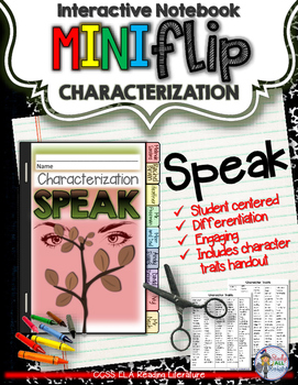 SPEAK,BY LAURIE HALSE ANDERSON: INTERACTIVE NOTEBOOK CHARA