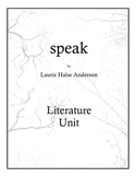 Speak by Laurie Halse Anderson Literature Unit
