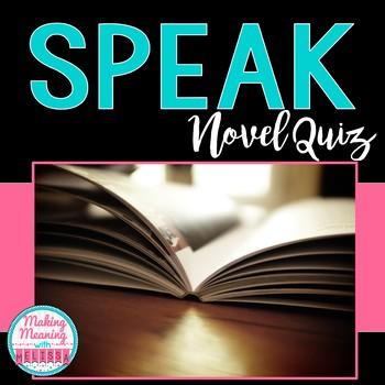 """Speak"" by Laurie Halse Anderson Multiple Choice Quiz"