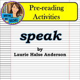 Speak by Laurie Halse Anderson: Pre-reading Activities