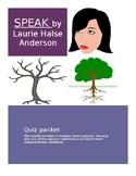 Speak by Laurie Halse Anderson quiz bundle