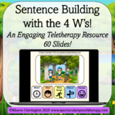 Speak in Full Sentences! 80 Slide Teletherapy Distance Lea
